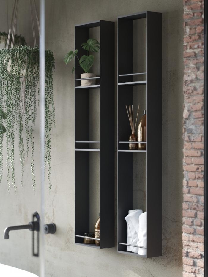 Colonna arredo bagno in alluminio Raco'